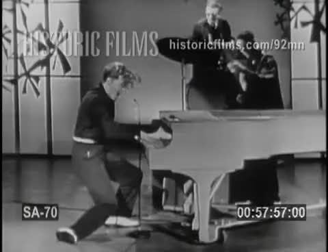 """Watch JERRY LEE LEWIS """"Whole Lot Of Shakin' Going On' 1957 STEVE ALLEN SHOW GIF on Gfycat. Discover more 1950 GIFs on Gfycat"""