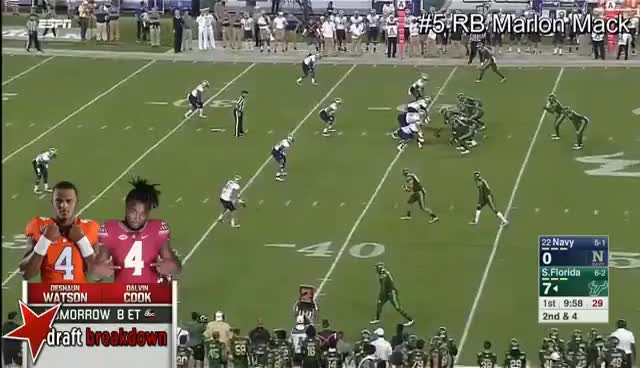 Watch and share RB Marlon Mack Vs Navy 2016 GIFs on Gfycat