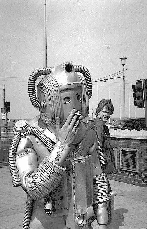 photoshopbattles, PsBattle: Smoking Cyberman (reddit) GIFs