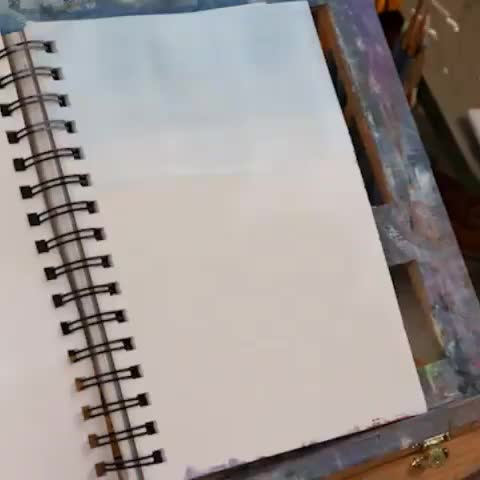 oddly satisfying, painting, ocean, Ocean paint sketch @emilymackeyart GIFs