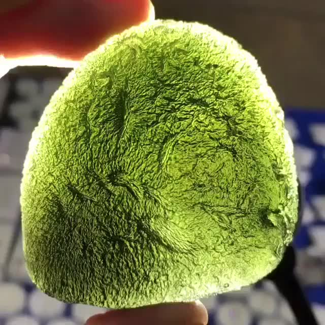 Watch and share Chunk Of Moldavite Looks Like An Alien Egg (@rusted77) GIFs by tothetenthpower on Gfycat
