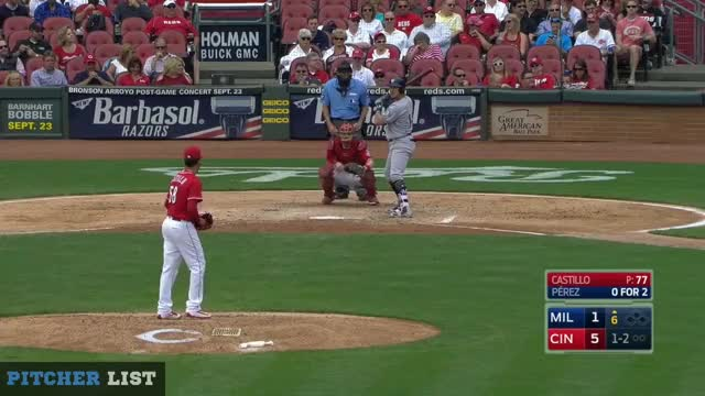 Watch and share Perez Groundout FB 6th GIFs on Gfycat