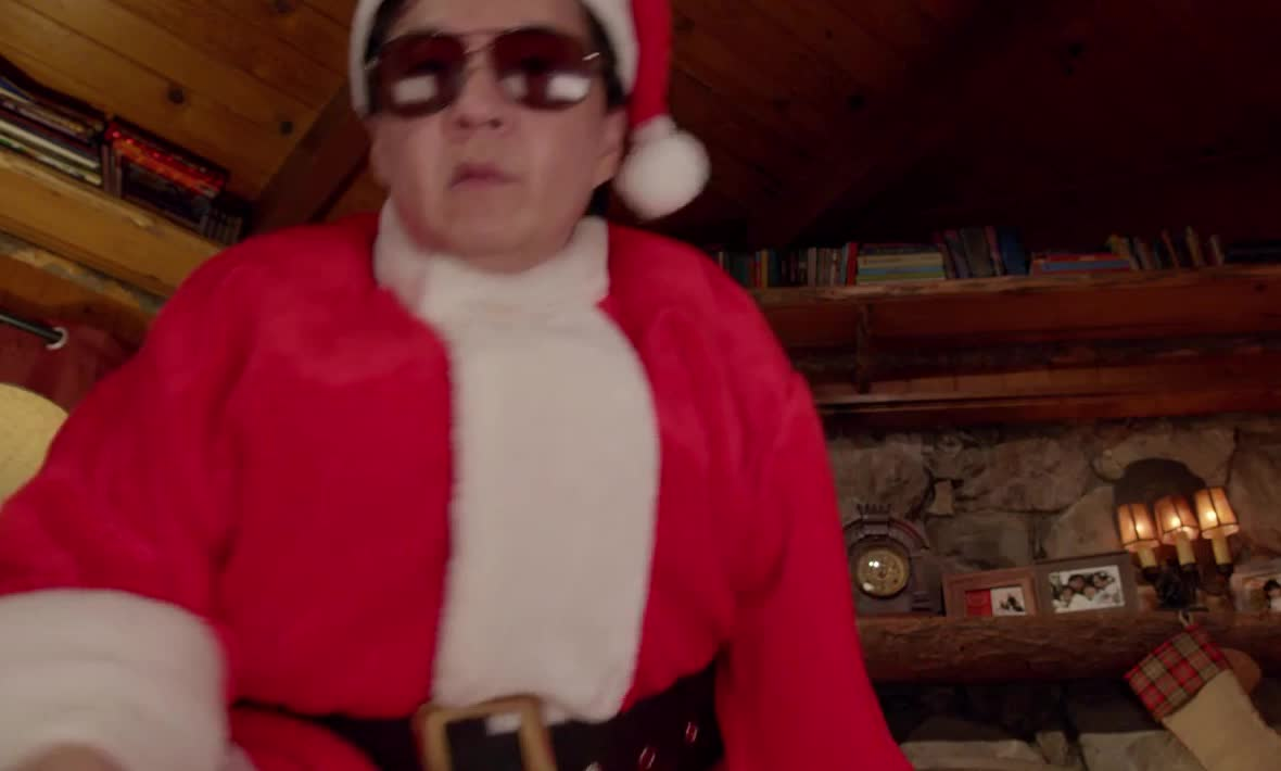 christmas, cool, crack, deal, dude, funny, happy, hilarious, holidays, it, it's, jeong, ken, me, merry, santa, though, wild, with, xmas, Ken Jeong Cracks Christmas GIFs