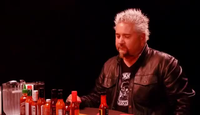 Watch and share Guy Fieri Becomes The Mayor Of Spicy Wings | Hot Ones GIFs on Gfycat