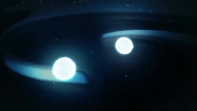 Watch and share Doomed Neutron Stars Create Blast Of Light And Gravitational Waves GIFs on Gfycat
