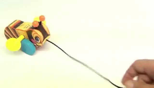 Watch and share Fisher-Price Bouncy Bumble Bee Pull Along Classic Toy, 2009 GIFs on Gfycat