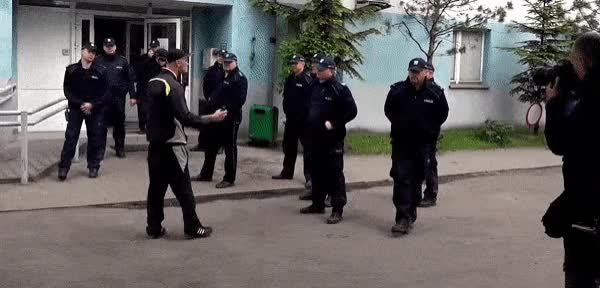 Watch Tough guy against the Police GIF on Gfycat. Discover more related GIFs on Gfycat