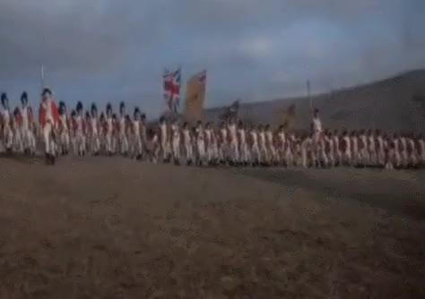 Watch and share Revolutionary Wars British Army Line Advances Under Fire GIFs by nurdbot on Gfycat