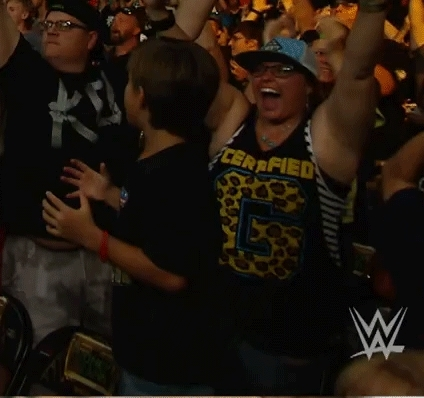 happycrowds, after Seth beats Roman (reddit) GIFs