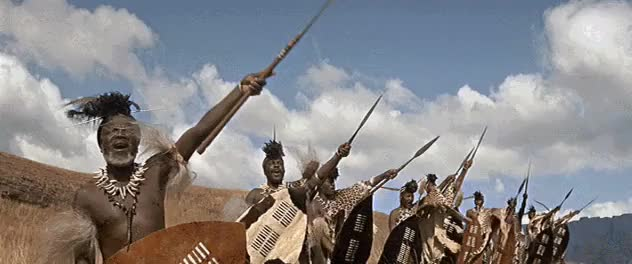 Watch and share Zulu Commanders Signal Warriors In Battle GIFs by nurdbot on Gfycat