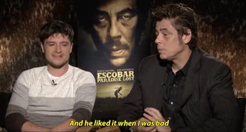Watch and share Benicio Del Toro GIFs and Josh Hutcherson GIFs on Gfycat
