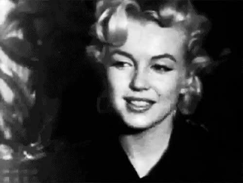 Watch this GIF on Gfycat. Discover more 1962, acting, black and white, blonde, classic, fashion, films, gif, girl, gorgeous, hipster, indie, legend, makeup, marilyn monroe, movies, rip, smile, thinking GIFs on Gfycat