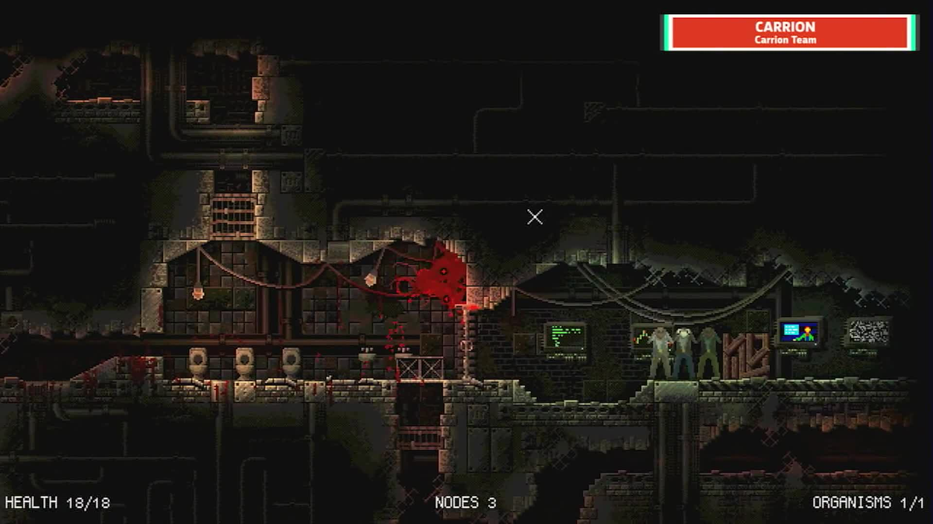 Carrion This Horror Game Makes You The Monster The Mix 2018 Gif