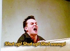 matthew perry, shut up shut up GIFs