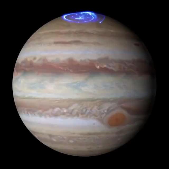 Watch and share Thanks To The Ultraviolet Capabilities Of The Hubble Telescope, We Can Observe Distant Auroras Like Jupiter's. We Wouldn't Be Able To See Th GIFs on Gfycat