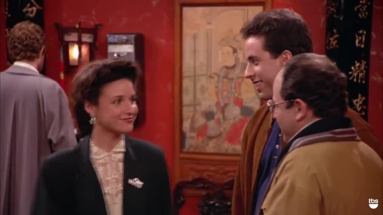 george costanza, jason alexander, jerry seinfeld, julia louis dreyfus, kramer, nbc, seinfeld, sitcoms, tbs, Bribe | Seinfeld | TBS GIFs