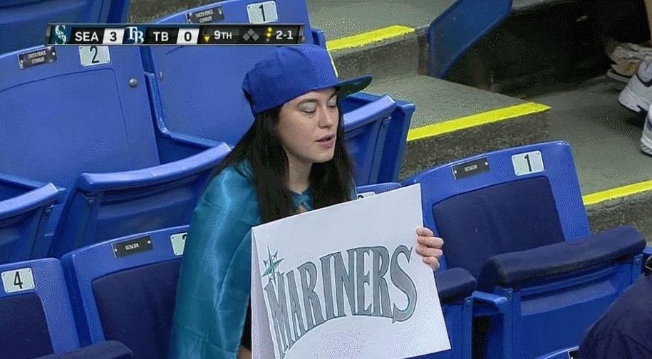 Mariners Fan in Tampa GIFs