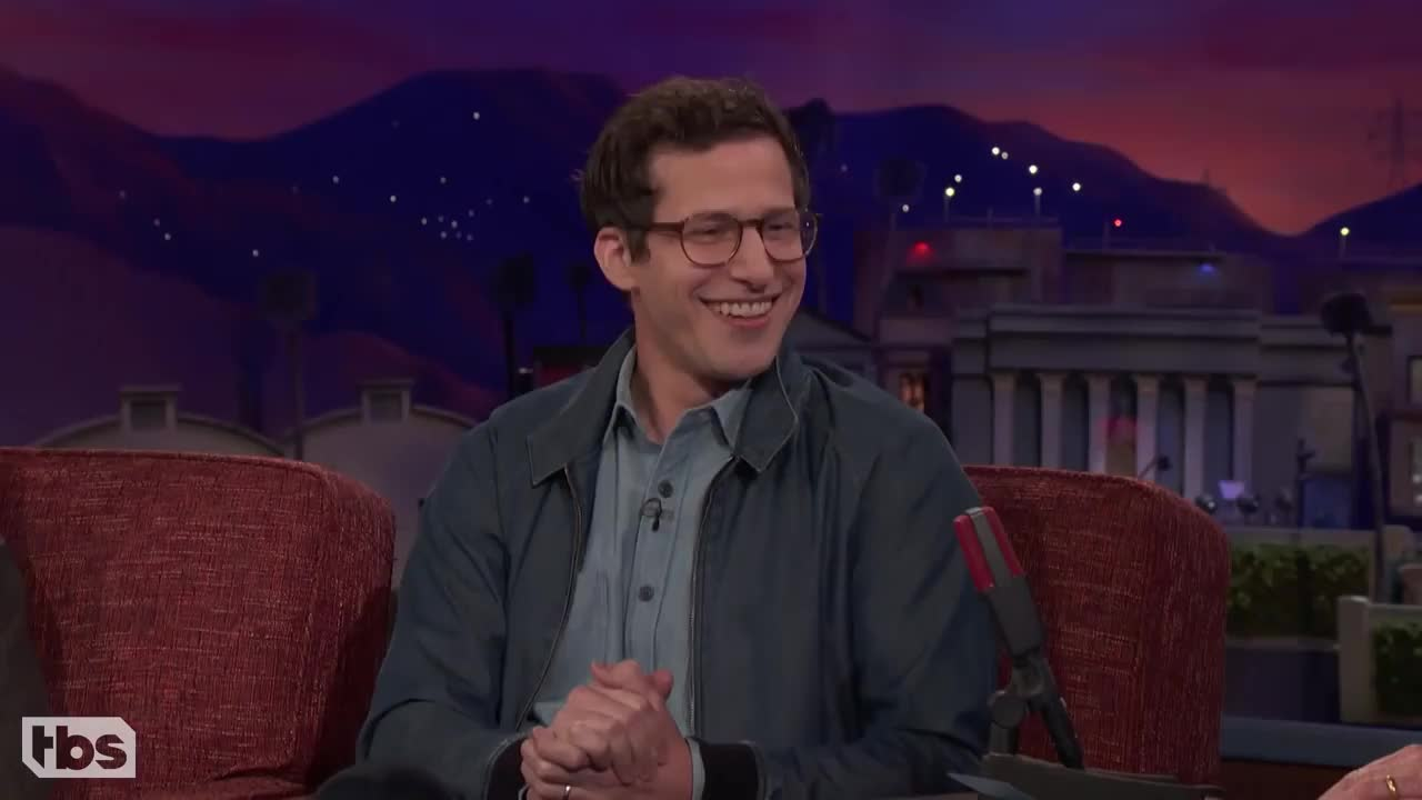 andy samberg, celebs, haha, laughing, Andre Braugher be zaddy GIFs