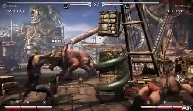Watch Mortal Kombat X Cassie Cage X-Ray Crotch Punch w/ All Characters GIF on Gfycat. Discover more related GIFs on Gfycat