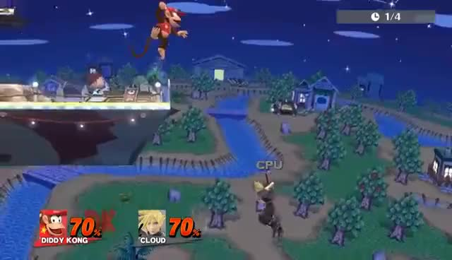 Smash 4 Wii U - Guaranteed Stage Spike on Cloud (NOT TECHABLE)