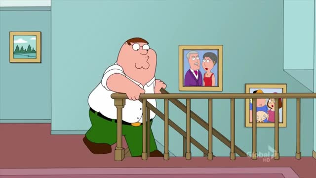 Watch and share Family Guy - Peter Falls Down The Stairs HD GIFs on Gfycat