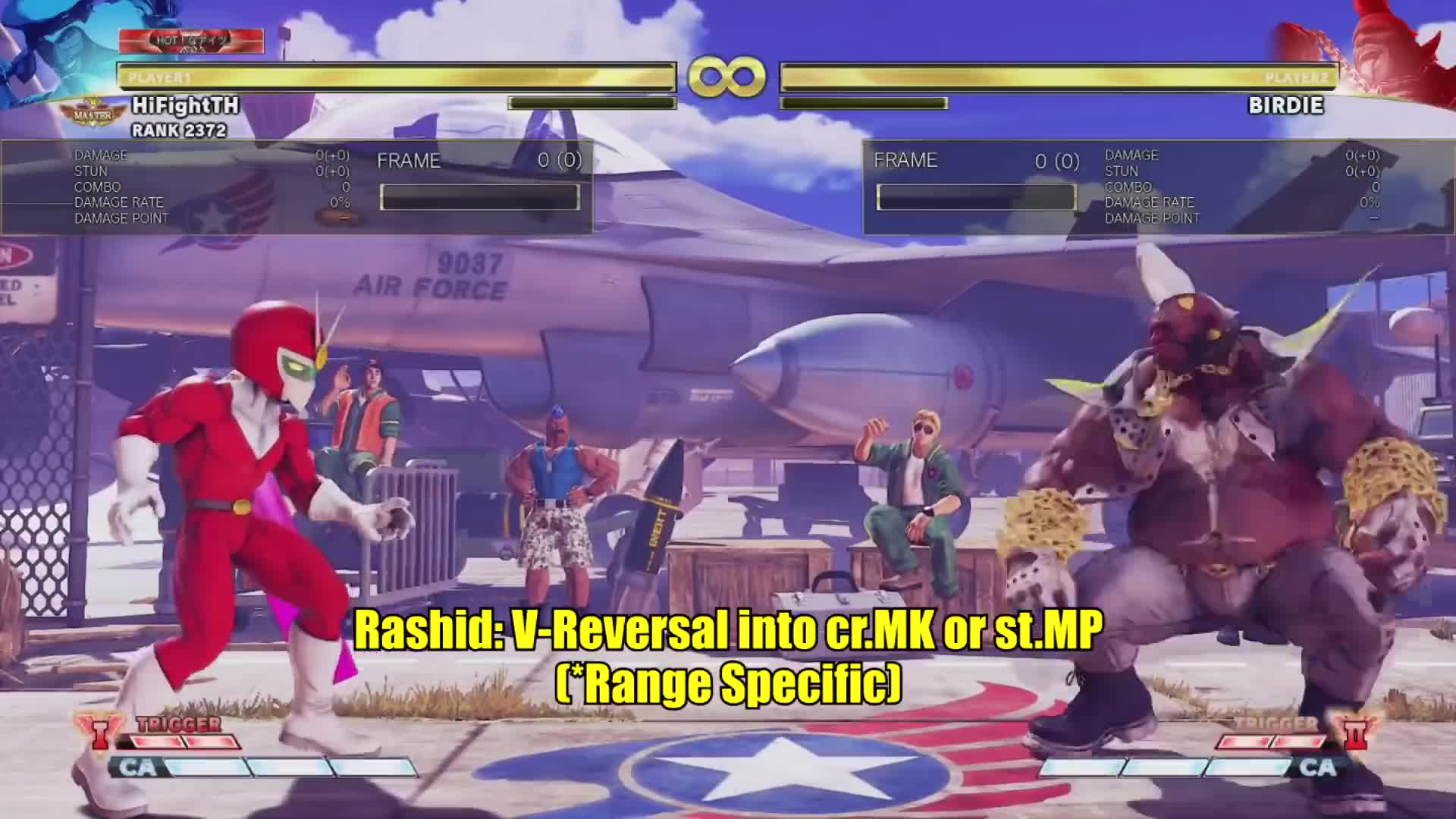 birdie, gaming, hifight, hifightth, sfv, street fighter v, Birdie EX Bull Head VT2 Activation Punish (All Characters) GIFs
