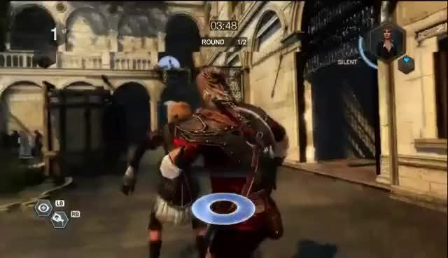 Watch Assassin's Creed Brotherhood - The Harlequin Assasination 1 GIF on Gfycat. Discover more Assassin's Creed, Assassin's Creed Brotherhood, Multiplayer caracters, The Harlequin GIFs on Gfycat