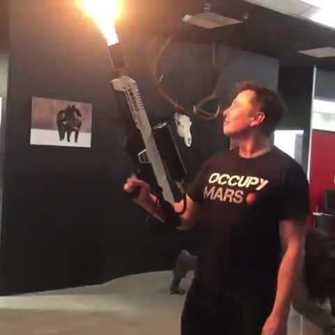 News & Politics, Typical Vegas Girl, elon, elon musk, flamethrower, joerogan, jre, musk, rogan, tesla, Elon Musk showing his flamethrower off to Joe Rogan GIFs