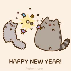 Watch this happy new year GIF on Gfycat. Discover more cat, cats, happy new year, new year, new years, pusheen, pusheen cat, pusheen the cat GIFs on Gfycat