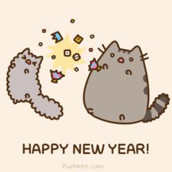cat, cats, happy new year, new year, pusheen, pusheen cat, pusheen the cat, Happy New Year Pusheen GIFs