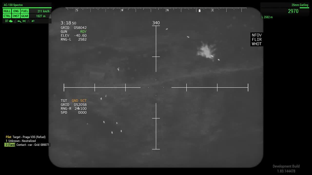 Taro, Arma 3: AC-130 now with FCS GIFs