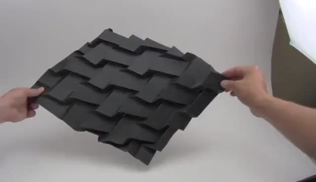 Watch and share Rigidly Foldable Origami Twists GIFs on Gfycat