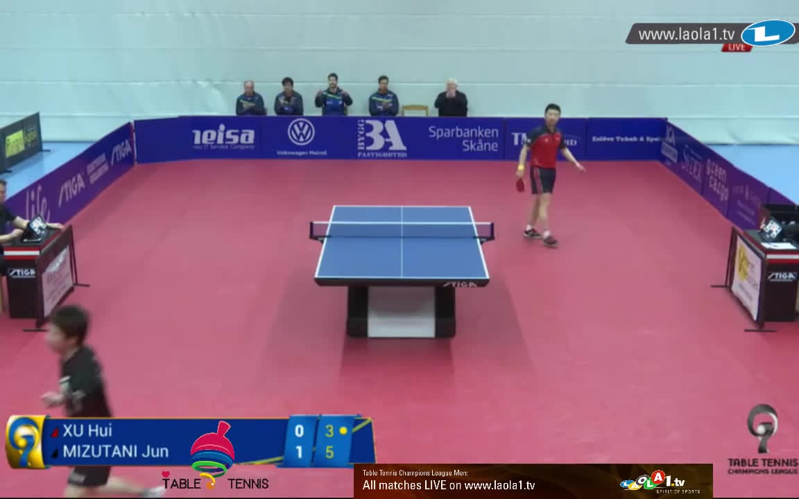 table tennis, tabletennis, 卓球, Jun Mizutani vs Xu Hui (Champions League Highlights) Table Tennis | HD GIFs