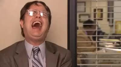 Watch and share The Office : Dwight Schrute Laughing Hard GIFs by posi_e on Gfycat