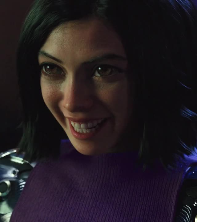 Watch and share Alita Battle Angel GIFs and Smiling GIFs by Boostbacknland on Gfycat