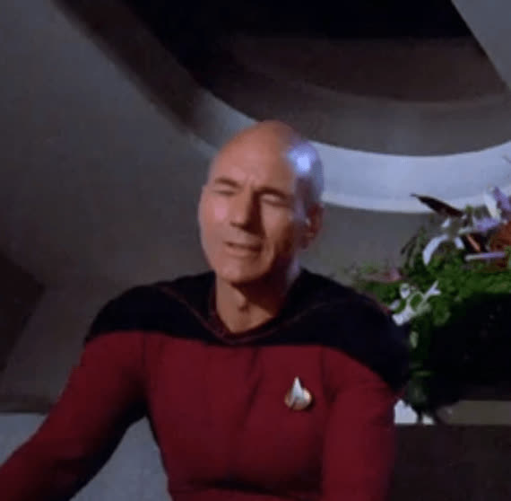 captain picard, jean-luc picard, patrick stewart, picard, star trek, the next generation, tng, MRW I realized I had extra money in my account because I forgot to pay a bill GIFs