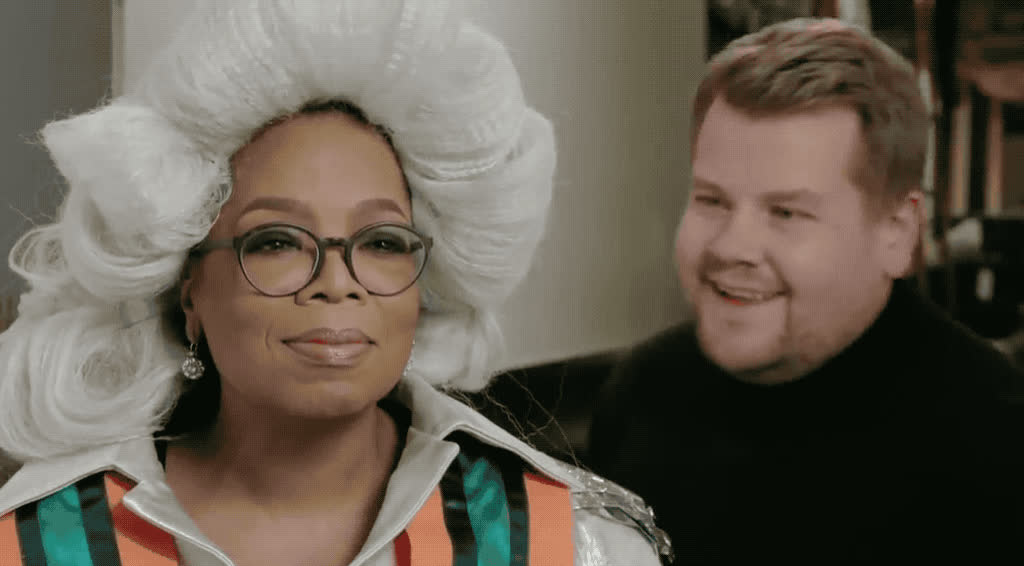 a, about, corden, disappointed, forget, in, it, james, kaling, mindy, never, no, not, oprah, reese, strict, time, winfrey, witherspoon, wrinkle, James & Oprah - No GIFs