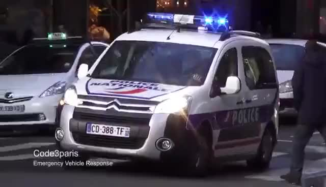 Watch and share Voitures De Police (collection) // Police Cars Responding In Paris (collection) GIFs on Gfycat