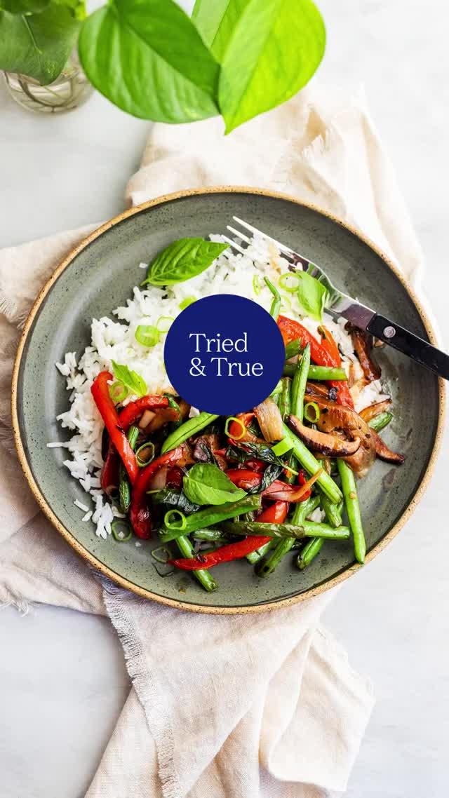 Watch and share Vegetarian Pad Krapow (Thai Basil Stir Fry) GIFs by triedandtruerecipes on Gfycat