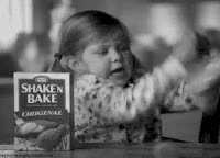 Watch and share It's Shake 'n Bake I Helped! Gif Commercial Girl Shaking Chicken Dinner Fun Southern Accent Cute Kraft GIFs on Gfycat