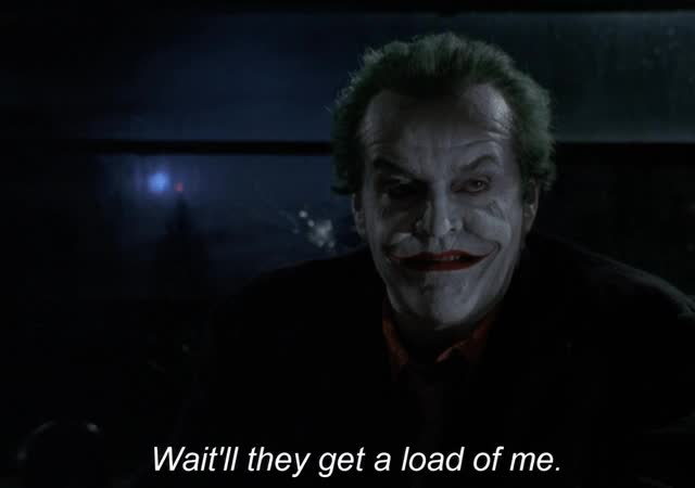 Watch and share Jack Nicholson GIFs and Joker GIFs on Gfycat