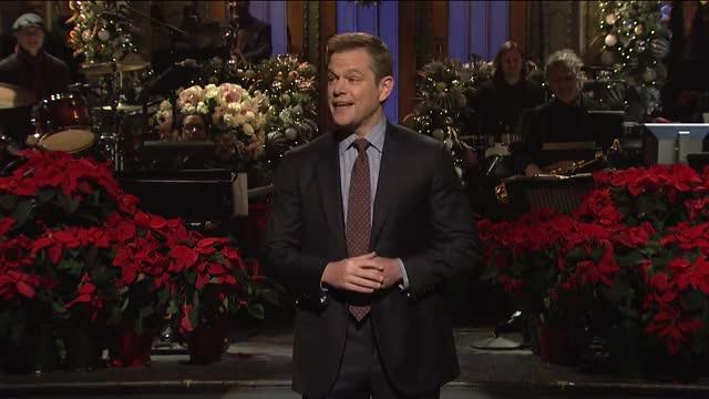 Watch Matt Damon Monologue - SNL GIF on Gfycat. Discover more host snl, matt damon, nbc, saturday night live, season 44, snl, snl 44, snl host, snl monologue, snl season 44 GIFs on Gfycat