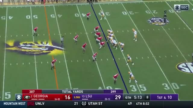 Watch 2018 #2 Georgia @ LSU Full Game GIF on Gfycat. Discover more College Football, Georgia Bulldogs, Georgia Football, Go Dawgs, LSU, LSU Tigers, SEC, SEC Football, SEC on CBS, The University of Georgia GIFs on Gfycat