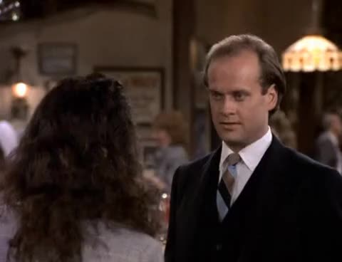 bebe neuwirth, cheers, frasier, funny, kelsey grammer, kiss, lilith, Lilith Kisses Frasier GIFs