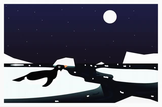 Watch and share Postcard Penguin GIFs by Yergus on Gfycat