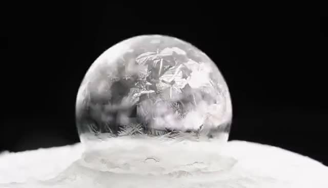 Watch Freezing soap bubbles at -15 celsius - Warsaw GIF on Gfycat. Discover more related GIFs on Gfycat