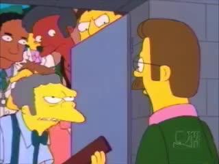 bomb, scene, shelter, simpsons, Simpsons - Bomb Shelter Scene GIFs