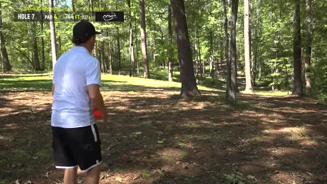 2018 Hall of Fame Classic - Round 2 Part 1 - Gregg Barsby hole 7 approach