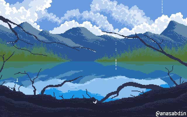 Watch and share Noon Drizzle Pixel Art [OC] animated stickers on Gfycat