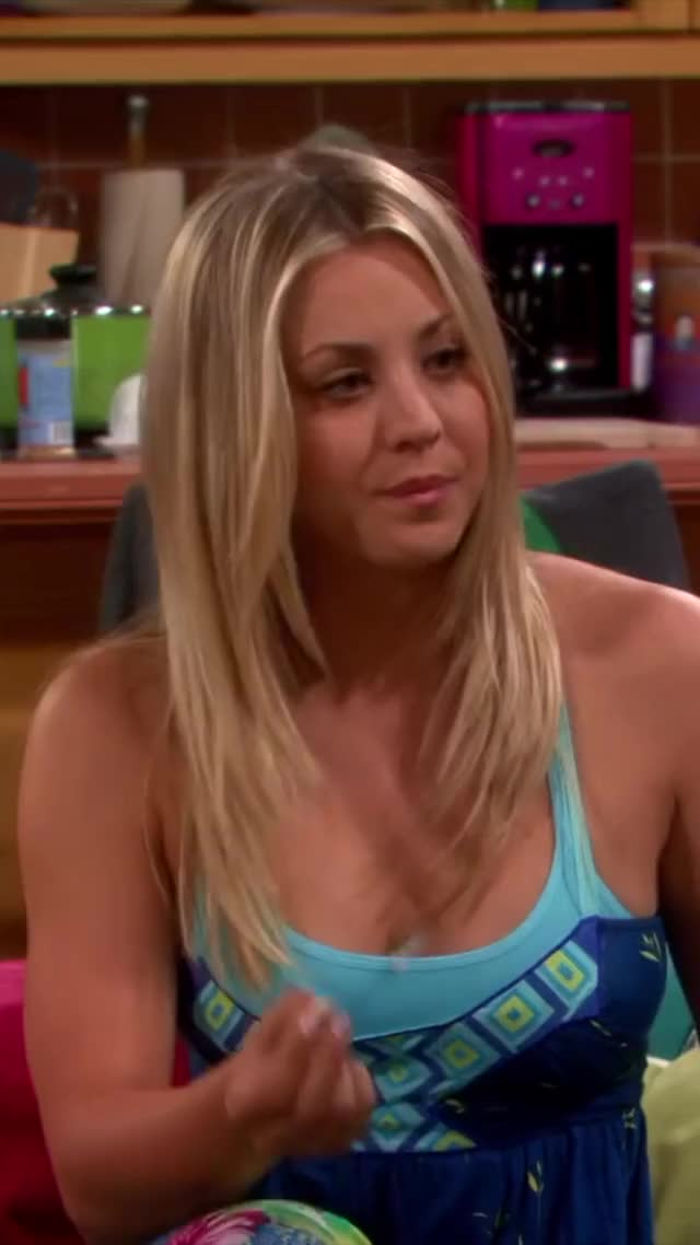 kaley Cuoco is so ready to feel two weenies playing in her cleavage...